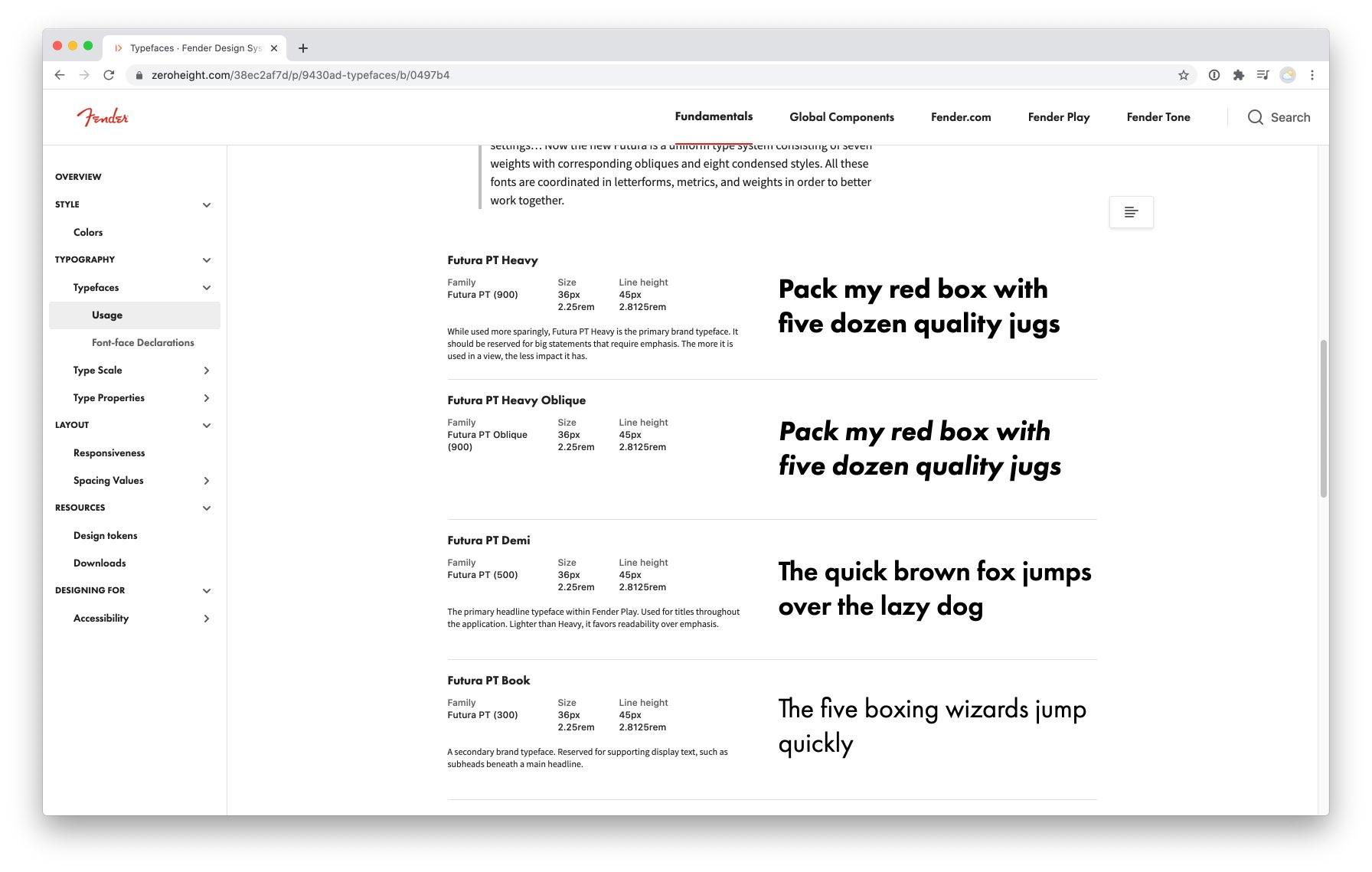 Fender Tone app showing preset details on desktop and phone